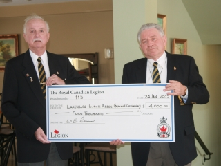 2015-01 Poppy Fund donation to Manoir Cavagnal