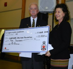 2016 donation to Lakeshore General Hospital
