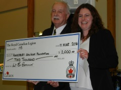 2016 donation to Hawkesbury General Hospital
