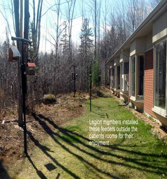 2016-04 bird feeders at Palliative Care Residence