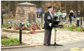 2020-11-11 Place Vimy Remembrance Day ceremonies